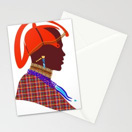Kenya massai warrior digital art graphic design atalanta creative Stationery Cards
