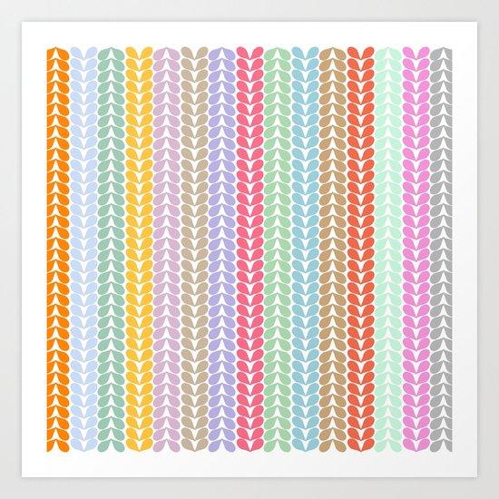 Patterns and Patterns Art Print