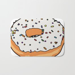 White Frosted Donut Bath Mat