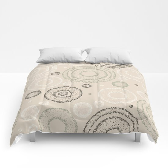 Retro Dotted Pattern 03 Comforters