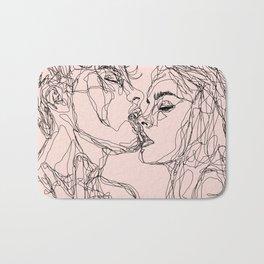 kiss more often Bath Mat