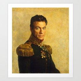 Jean Claude Van Damme - replaceface Art Print