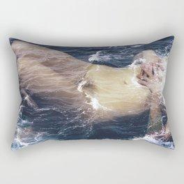 Wall Art.Nude Art Print.Wall Decor.Photo Print.Photo Prin. Art Decor.Fine Art Photo.Film Photo.Ocean Rectangular Pillow