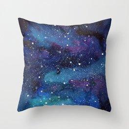 Galaxy Space Painting Stars Cosmic Universe Nebula Art Throw Pillow