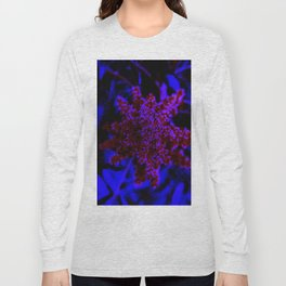 Maroon and Blue Sumac Bloom Long Sleeve T-shirt