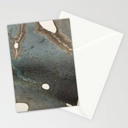 Abstract map blue and black ink drawing Stationery Cards