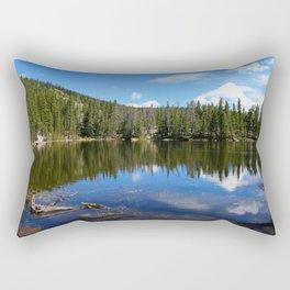 Serene Nymph Lake Rectangular Pillow