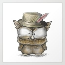 I'll show you a Hoot! - Angry Owl Illustration - Kawaii Art Print