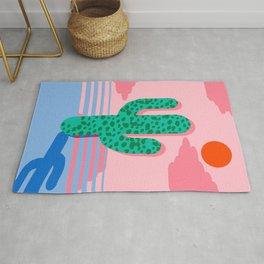 No Foolin - retro throwback neon art design minimal abstract cactus desert palm springs southwest  Rug