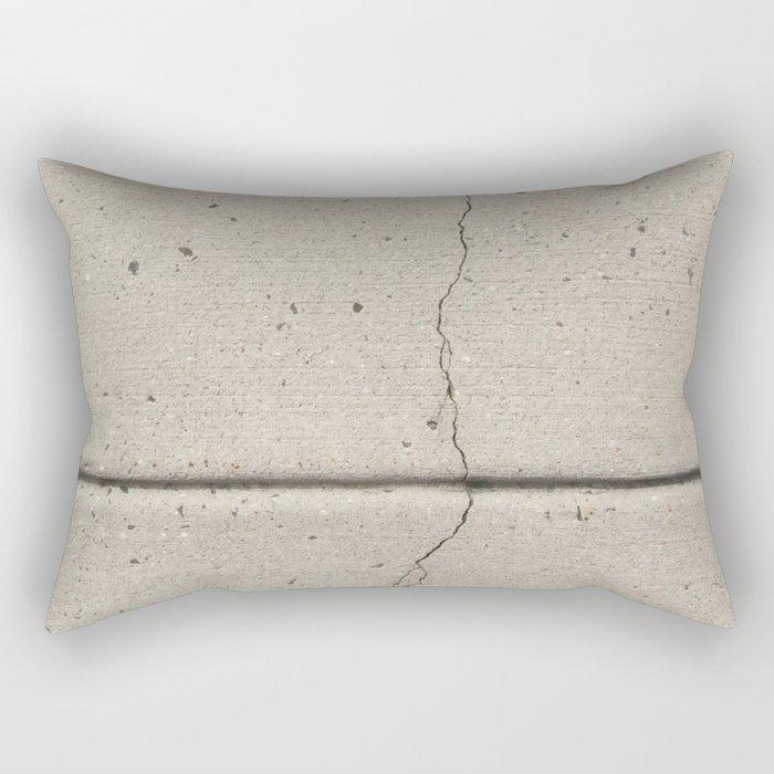 Real, Concrete, not Abstract Rectangular Pillow