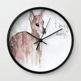 Deerly Wall Clock