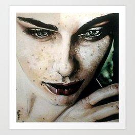 ragazza con lentiggini Art Print