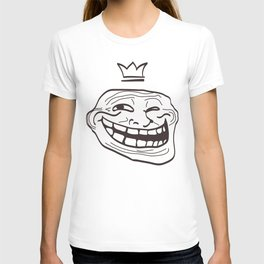 vector cartoon face. Isolated eps 10  T-shirt
