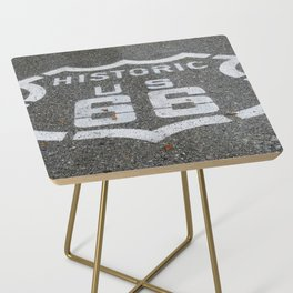 Route 66 sign on the road Side Table