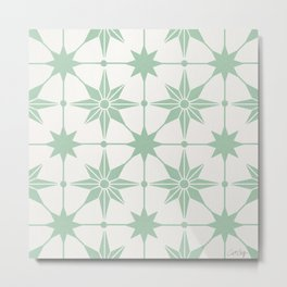 Starburst Mosaic – Mint Metal Print