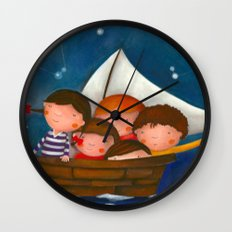 At the sea Wall Clock