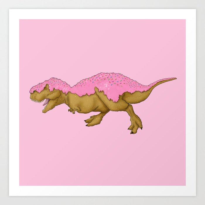 Jurassic Sweet   Donutsaurus Rex Art Print