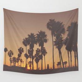 Venice Beach Sunset Wall Tapestry