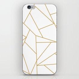 Geometric Gold Hexagon Pattern iPhone Skin