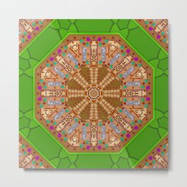 sweet crackers with chocolate mandala Metal Print