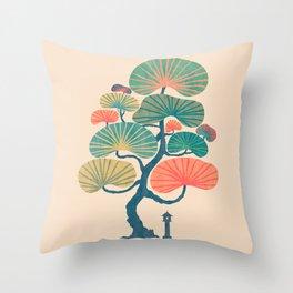 Japan garden Throw Pillow