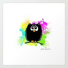 The owl without name ;) Art Print
