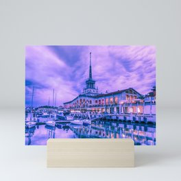 Marine station of Sochi Mini Art Print