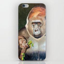 Lowland Gorilla Family iPhone Skin