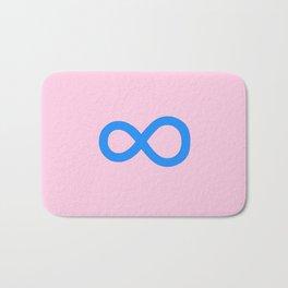 symbol of infinity 1 Bath Mat