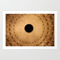 Raise The Roof… Of The Pantheon  Art Print