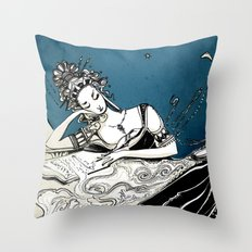 Calliope, The Muse of Epic Poetry Throw Pillow