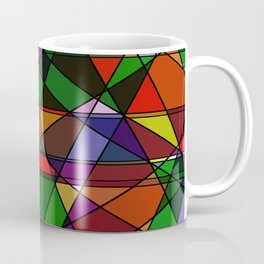 Stain Glass Mosaic Dark Coffee Mug