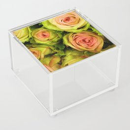 Green & Pink Bouquet Acrylic Box