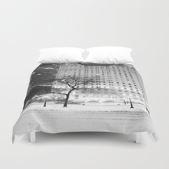 New York City Snow  Duvet Cover