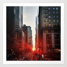 manhattan sunset 6 Art Print