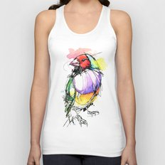 Red Lady Gouldian Finch Unisex Tank Top