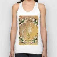 saxophone Tank Tops featuring Saxophone with flowers by nicky2342