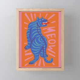 Meow Framed Mini Art Print