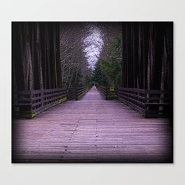 Cold Dark Bridge Canvas Print