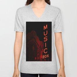 Music Box Arthouse Cinema Lakeview Chicago Unisex V-Neck