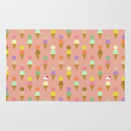 Ice Cream Cone Pattern Pink Robayre Rug