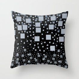 Rectangles blue black pattern design  Throw Pillow