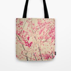 Abstract Spring Branches with Pink Blossoms Tote Bag