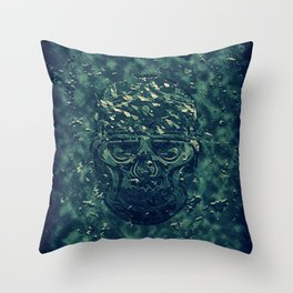 Skull X Throw Pillow