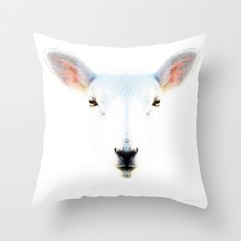 The White Sheep By Sharon Cummings Throw Pillow