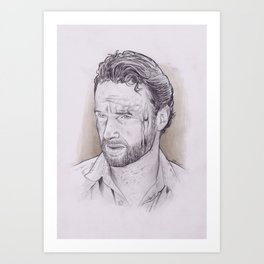 Andrew Lincoln as Rick Grimes from The Walking Dead Art Print