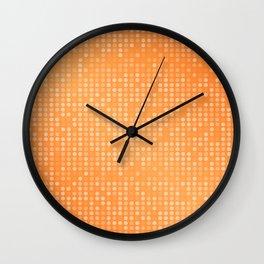 Dotted Orange Background Design Wall Clock