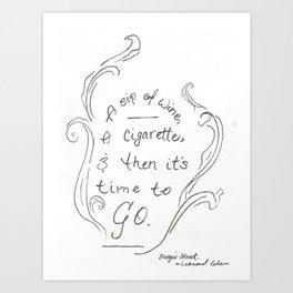 Boogie Street - Leonard Cohen Art Print