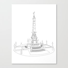 Indianapolis Circle - One Line Canvas Print