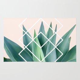 Agave geometrics - peach Rug